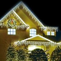360 LED 10m Snowing Effects Icicle Lights Indoor Outdoor Christmas Home White