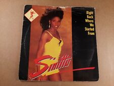"""Sinitta : Right Back Where We Started : Vintage 7"""" Single from 1989"""