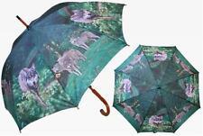 Lobo lobo Paraguas Automático paraguas Paraguas bastón paraguas,Nuevo