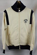 Vintage 80's Adidas Club Track Jacket White Blue Sz S