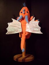 "CALTOY FINGER PUPPET ORANGE DRAGON 9"" Fantasy Animal PRETEND TOY"