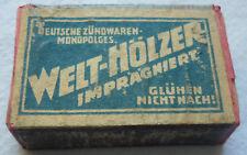 STREICHHOLZSCHACHTEL WELTHÖLZER ca. 2 gramm ca. 46 x 22 x 11 mm vor 1960