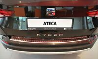 Seat Ateca 2016Up Chrome Rear Bumper Protector Scratch Guard S.Steel