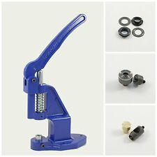 Set Ösenpresse +125 Ösen schwarz 12mm rostfrei +2 Werkzeuge für Handpresse Niete