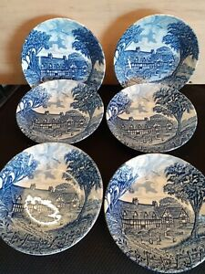 Set Of 6 Royal Essex Shakespeare Country Bowls