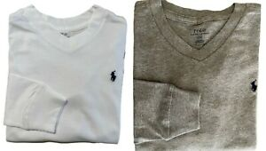 Boys Ex Ralph Lauren High V Neck long sleeved top 2 pack age 6 limited stock