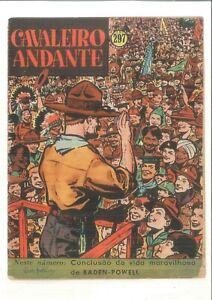 Baden-Powell 1957 cover rare comics magazine Cavaleiro Andante Tintin inside