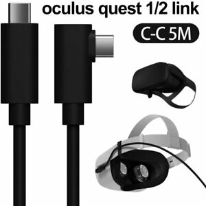 16ft Link Cable For Oculus Quest 2/Quest Type-C-C Right Angle Fast Charger Cord