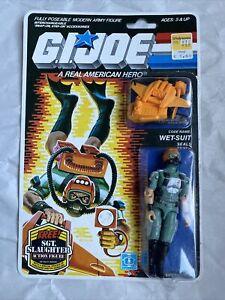 "1985 HASBRO GI JOE WET-SUIT RE-SEALED CARDED 3 3/4"" COMPLETE ARAH Action Figure"