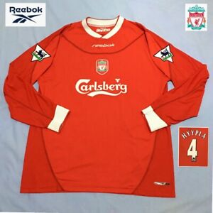 Original Liverpool Football Shirt HYYPIA 2002 mint Vintage Reebok Jersey