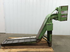Turbo Systems Incline Cleated Chip Conveyor 12 Belt 43discharge 6 Fpm 230460v