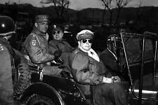 New 5x7 Korean War Photo: Douglas MacArthur and Generals Near 38th Parallel