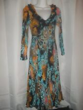 Ladies Size M Pleats Collection By Ping Import Inc V Neck Full Skirt Dress  NWOT
