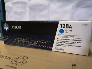 Genuine HP 128A Ce321A Cyan Toner Cartridge
