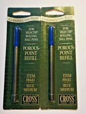 2x Cross Refill for Selected Pen Porous-Point  Item #8441 Blue Ink Medium Point