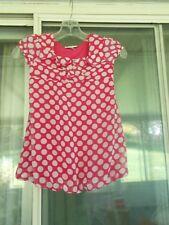Girls IZ Amy Byer Size 6X Red/White Polka Dot Dress Lined