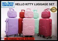 Luggage Travel Suitcase Hello Kitty Case Wheels Rolling Trolley Pink FREE SHIP