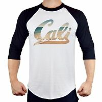 New Cali Beach Baseball T-Shirt  Cali life California Republic bear summer B359