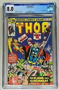 THOR #247 CGC 8.0 VF (MARVEL 1976) 🔑 RICH BUCKLER COVER 🔥 THOR VS FIRELORD