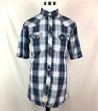 Larry Mahan Men's Cowboy Rockabilly XL Plaid Diamond Pearl Snap Western Shirt
