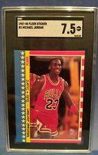 1987 Fleer Sticker Michael Jordan #2 SGC 7.5
