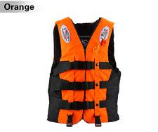 Rettungsweste Schwimmweste für Erwachsene Boot Schwimmhilfe Orange 110kg BL Toll