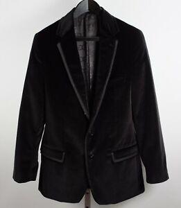 sz 48 / US 38 Dolce&Gabbana jacket blazer black velvet tuxedo