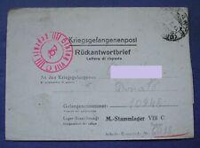 POSTA PRIGIONIERI DI GUERRA KRIEGSGEFANGENENPOST P.O.W. STALAG VIII-C 1944 SAGAN