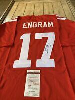 Evan Engram Autographed/Signed Jersey JSA COA Ole Miss Rebels NY Giants