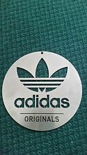 "ADIDAS THEMED STAINLESS ACIER PLAQUE MURALE 8"" années 80 Casuals."