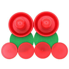 96mm Air Hockey Table Goalies with Puck Felt Pusher Grips Mallet Grip Red