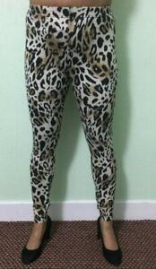 Cheetah Print Leggings Women's Ladies Super High Waist Pant Legging Party Club