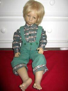 """Annette Himstedt 26"""" Doll BASTIAN 1985 Barefoot Children Doll 3805"""
