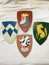 """Lot/Four """"Game of Thrones"""" Type Hand Painted Shield/Coat Of Arms Wall Plaques"""