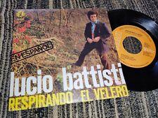 """LUCIO BATTISTI CANTA SPAGNOLO RESPIRANDO/EL VELERO 7"""" 1977 RCA SPAIN ESPAÑA"""