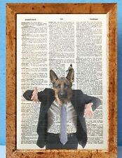 Hip Dog dressed in suit art dictionary page art print vintage antique N22