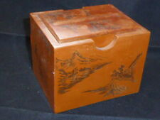 Unusual Vintage Japanese Cigarette Box with Dispenser 1940s