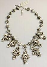 NWT $525 TI ADORO Wedding Bridal Crystal Cluster Necklace Silver
