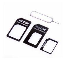 NOOSY 4 IN 1 PACK NANO TO MICRO & STANDARD SIM CARD ADAPTER ALL MOBILE PHONE UK