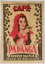 Vintage Padanga Coffee Matchbox Label  50x35mm