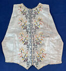 Antique Chinese Chinoiserie Silk Embroidery False Shirt Front Vest Bodice Dickey