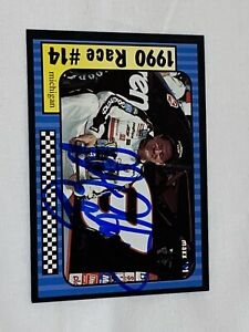 Dale Earnhardt signed 1991 MAXX NASCAR WINSTON CUP MICHIGAN VICTORY LANE card