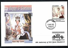 Ugandan Royalty First Day Cover African Stamps