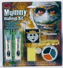 Mummy Halloween Makeup Gauze 3 colour Kit and Teeth Fancy Dress Halloween Makeup