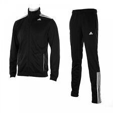 Adidas para hombre Chaqueta Chándal entrada de rendimiento Pantalones Negro 34/36 Pequeño BNWT