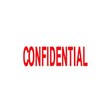 """CONFIDENTIAL Pre-inked Message Stamp, 3/8"""" x 1 3/8"""" Impression Size TMUconfident"""