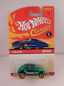 Hot Wheels Classics Series 1 Green VW BUG in BP #25 of 25