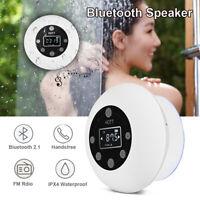 HOTT Waterproof Mini Wireless Bluetooth Speaker Stereo FM Radio USB for Bathroom