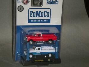 1/64th M2 Machines Auto Lift R20 1972 Ford F250 & 1969 Ford F100 4x4 Pickups