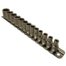 1/4pouce dr douilles peu profonde métrique 13pc 4mm-14mm 6 faces rail hexagonal